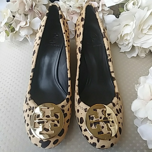 a07ce871a Tory Burch Pony Hair Leopard Print Wedges. M 5ad3416d3afbbd943c71463a